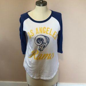 LA Rams Baseball Style Tee